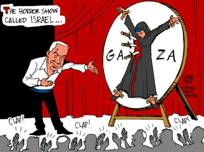 Image result for caricature gaza prison
