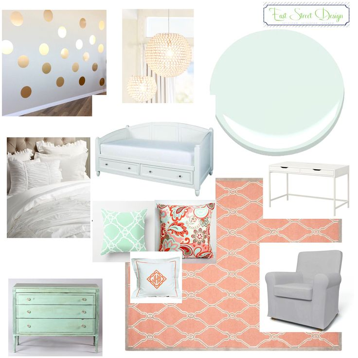 1000+ Ideas About Coral Mint Bedroom On Pinterest