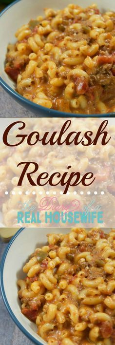 Goulash recipe! Pinning this and keeping it on hand! This is a great weeknight dinner idea!