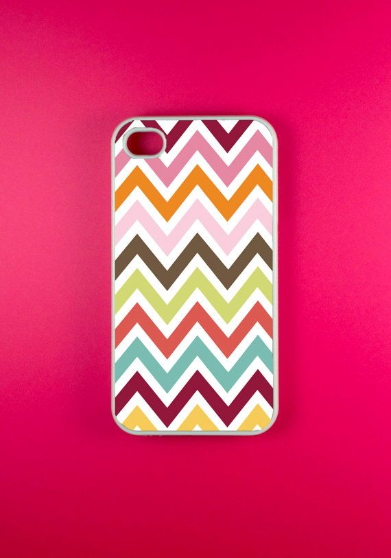 Iphone 4s Case  Colorful Chevron Iphone Case Iphone by DzinerCases, $14.99