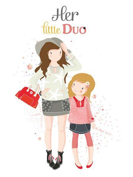 HER Little world, Patron de couture pour vêtement enfant et adulte, HER Little DUO
