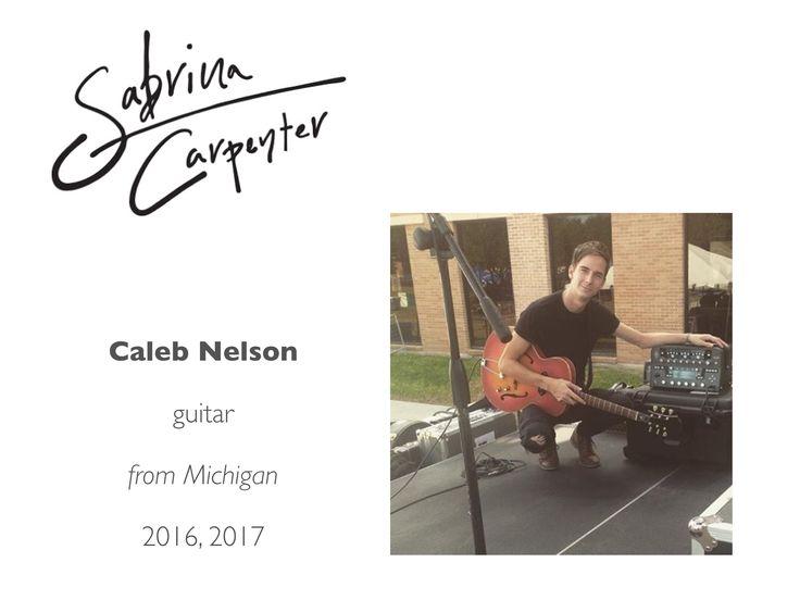 Meet the Sabrina Carpenter Band: Caleb Nelson (guitar, keys, music production; Bachelor of Music, Wayne State University)