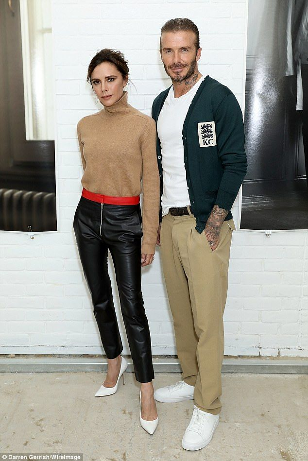 David Beckham is supported by wife Victoria for fashion launch #dailymail