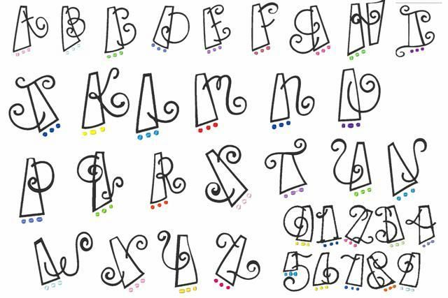Cute Alphabet Fonts | Cute Bubble Letter Fonts