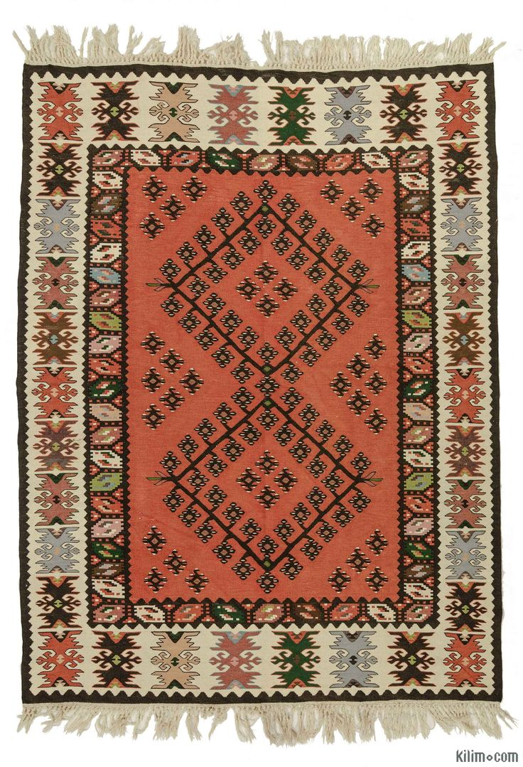 Vintage  Sharkoy Kilim Rug around 50 years old and in very good condition.