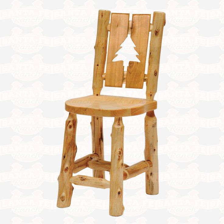Fireside Lodge Furniture Cedar Cut-Out Log Counter Height Side #DiningChair #rustic #rusticfurniture      http://www.santaferanch.com/