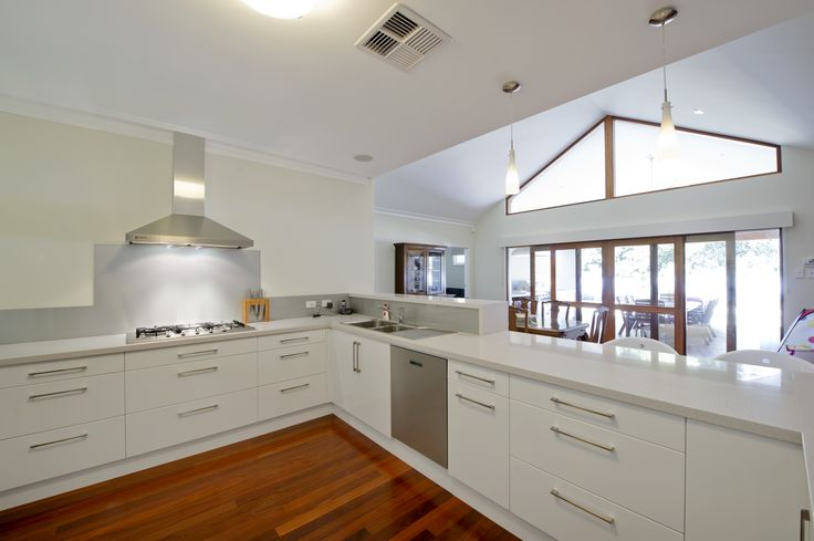 Bright and white kitchen looking out to the alfresco.   #homerenovation #renovation #extension #addition #whitekitchen