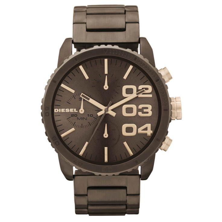 Espresso, dé kleur van 2014! Diesel heeft dit prachtige dames horloge nu al op de markt! Super gaaf deze DZ5319! | http://www.kish.nl/Diesel-DZ5319/