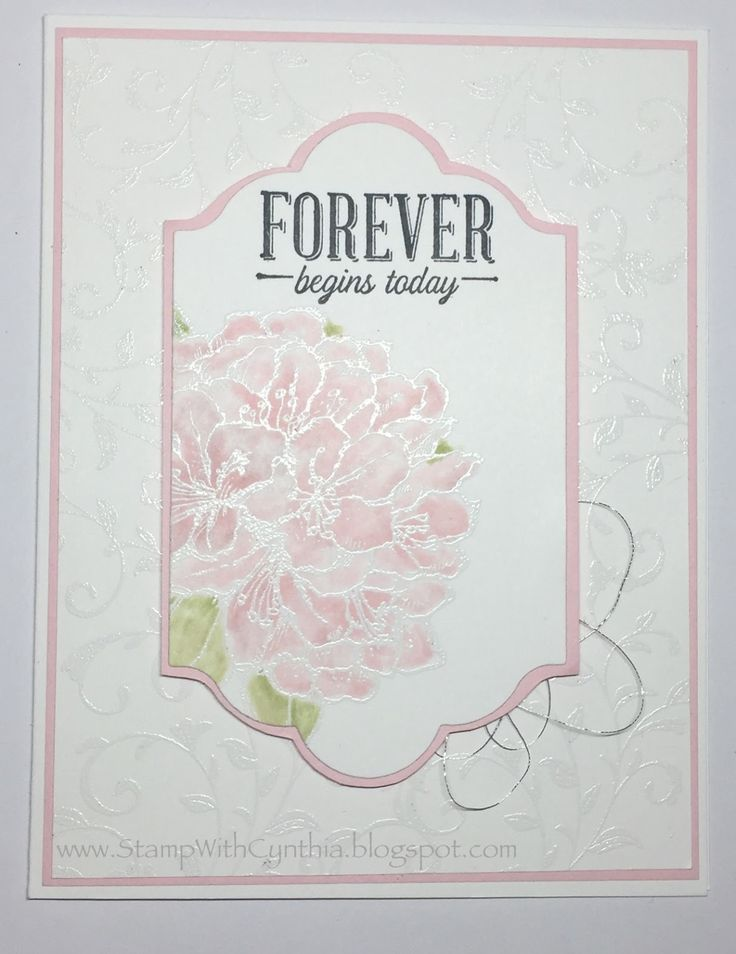 Stampin Up Best Thoughts Wedding Feminine Card Love