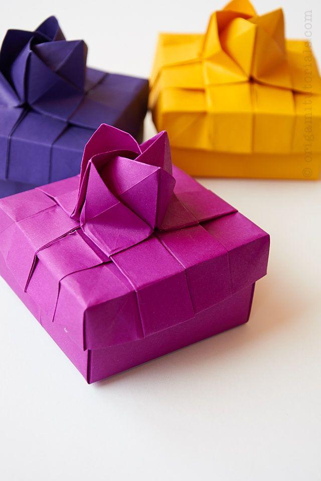 DIY Paper Flower Box   Origami Box   Paper Folding - YouTube   960x640