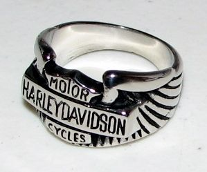 NEW HARLEY DAVIDSON RING IN STAINLESS STEEL SIZE 10