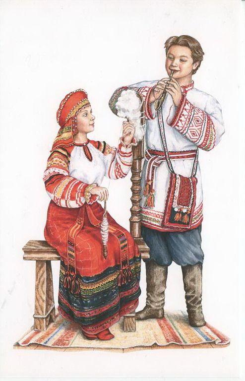 """Серия """"Костюмы"""" - Костюм """"Орловский"""" художник людмила романова"""