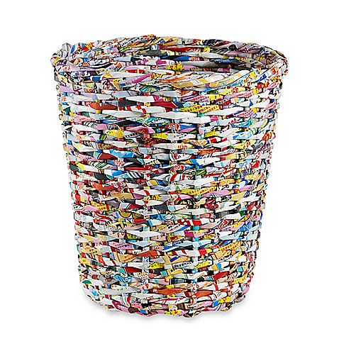 Adele waste basket from bedbathandbeyond made from magazines only cool upcycling and - Cool wastebaskets ...