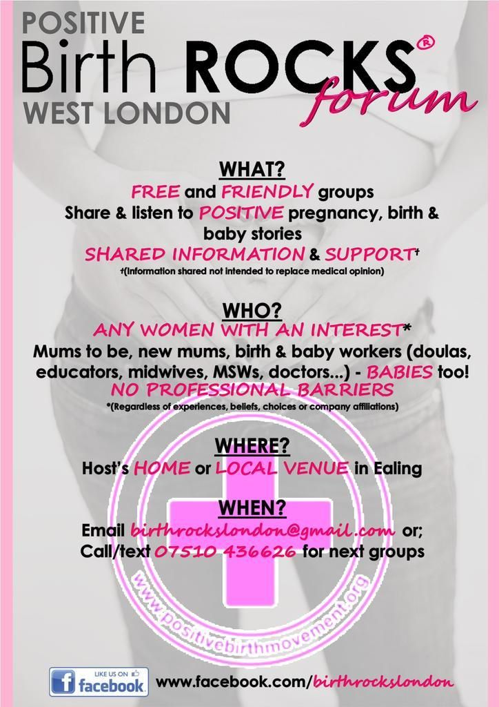 Our #FREE #Positivebirth ROCKS #Forum offers #support to #women across #West #London  :) #WO4Mawards #whatsonUKhour