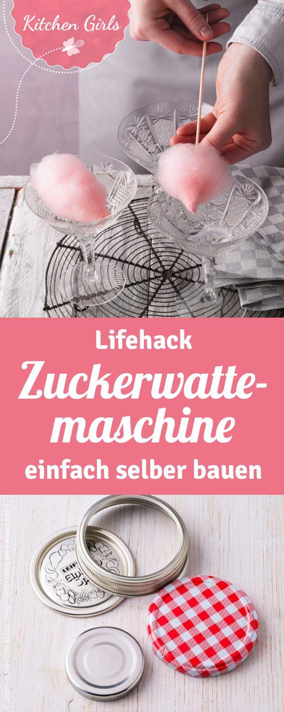 So könnt ihr schnell und einfach mit Haushaltsgegenständen selbst eine Zuckerwattemaschine bauen. Das Rezept für rosa Zuckerwatte mit Himbeergeschmack gibt es gleich dazu.