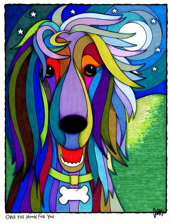 Over the Moon for You by AEMgallery on Etsy, $29.00