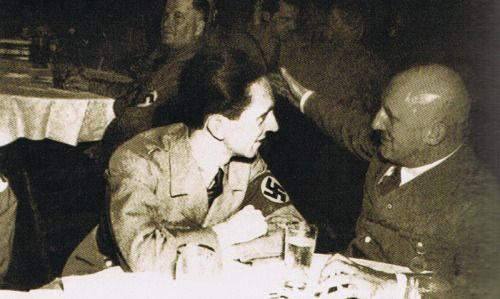 Joseph Goebbels and Julius Streicher. (via indesirableprincesse)