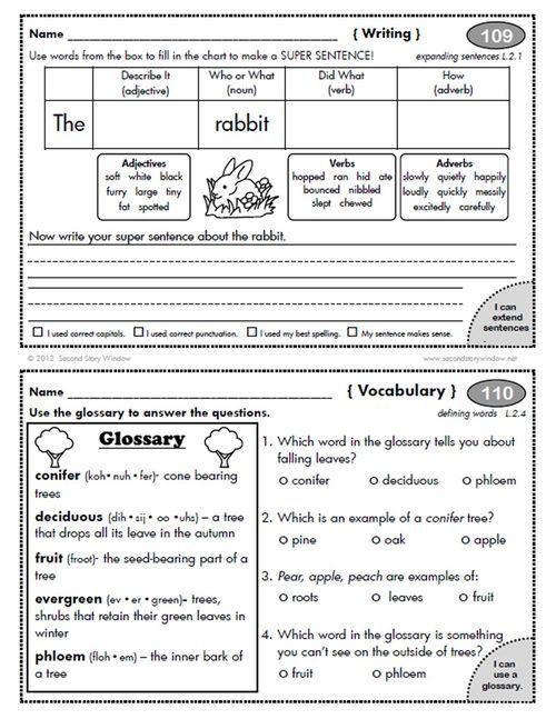 2nd Grade Homework Worksheets : Images about homework on pinterest morning work