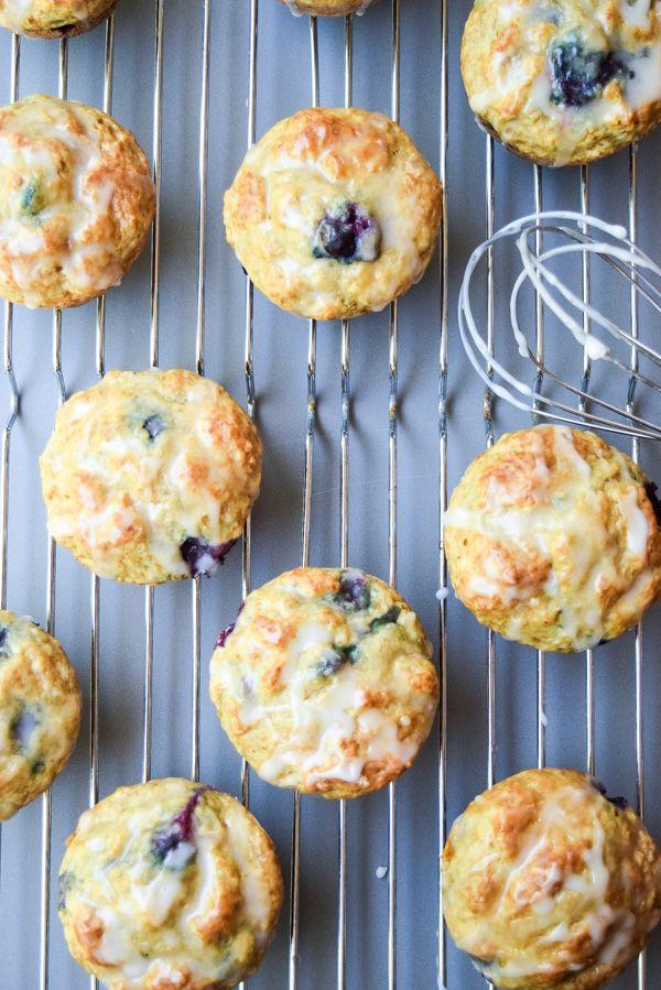 Fat Free Blueberry Lemon Muffins | TastyThin
