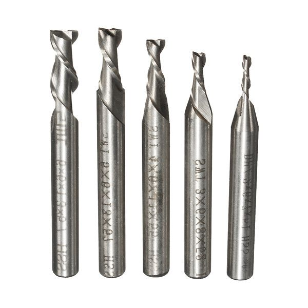 Drillpro DB-M8 10pcs 0.8-3mm Carbide PCB Drill Bits Engraving Milling Cutter for