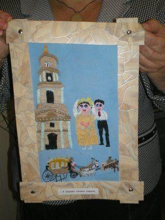 "вышивка  "" у церкви стояла карета"" - бабушка из калужского дома престарелых"