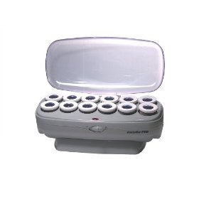 BaByliss Pro BABCHV15 Ceramic Instant Heat 12-Roller Set, Jumbo, (hot rollers, hair rollers, curlers, large hot rollers, rollers, electric hair rollers, hot curlers)