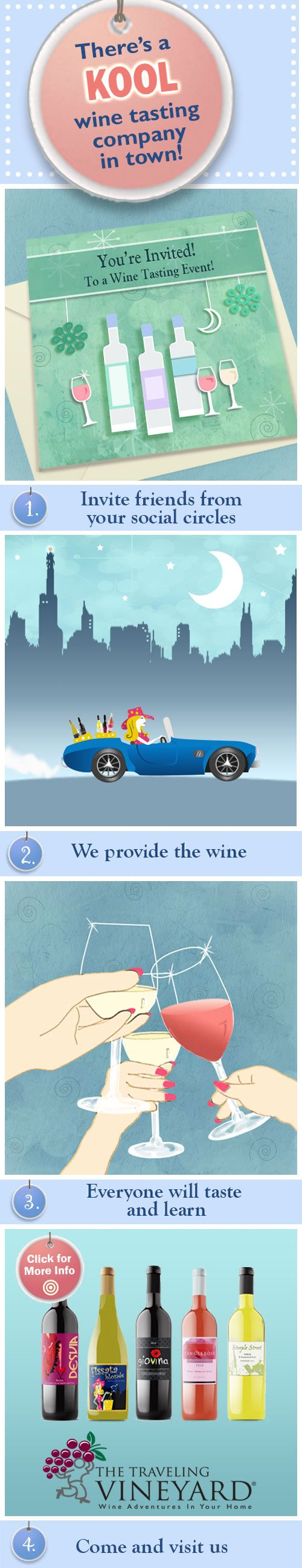 We'd like to organize YOUR very own free home wine tasting with The Traveling Vineyard. Click on this to make it happen !  http://www.travelingvineyard.com/free-home-wine-tasting/