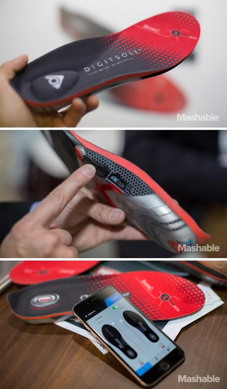 The Digitsole Warm Series insoles tracks your activity and heats up too to keep you warm