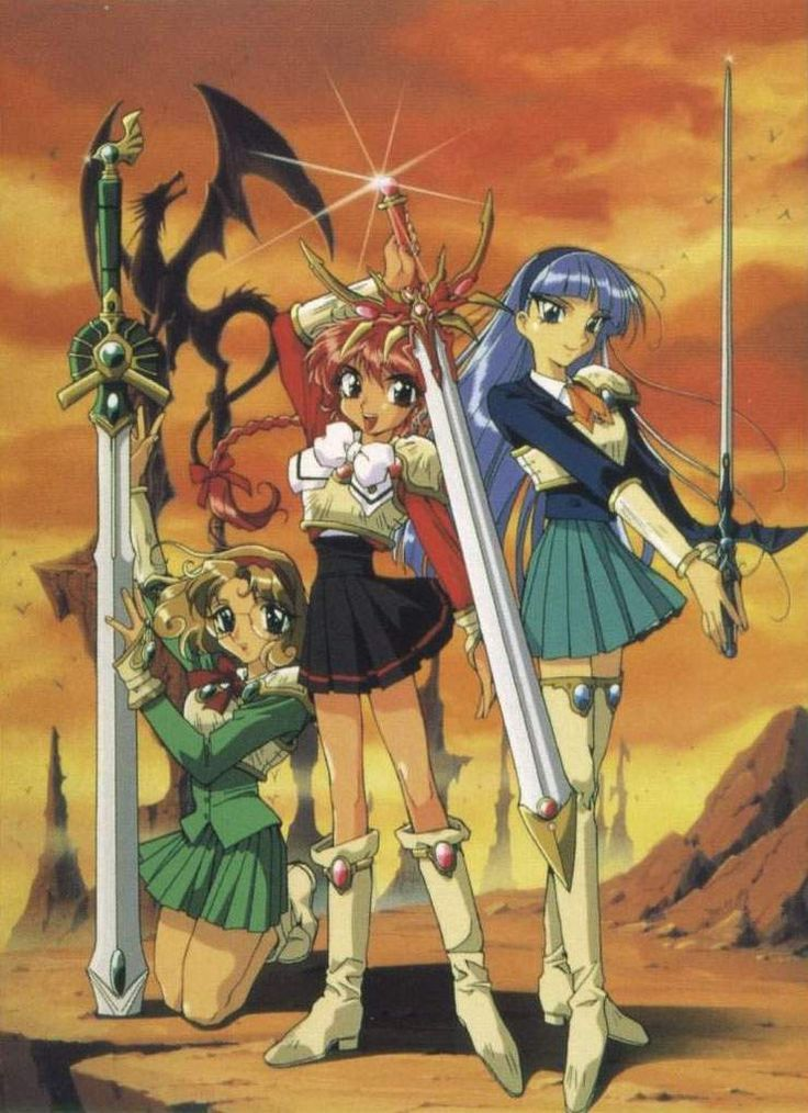 Magic Knight Rayearth - started to love CLAMP creations because of this.