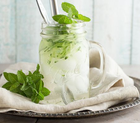 This is Mom's recipe for a tart and sweet Persian mint syrup. Serve over ice and top with shredded cucumber for a cool drink on a hot summer day. A twist on the Southern favorite cocktail - Mint Julep (a Kentucky Derby tradition) this recipe is perfect for picnics, parties and holiday get togethers with neighbors, family and friends...especially on Labor Day.
