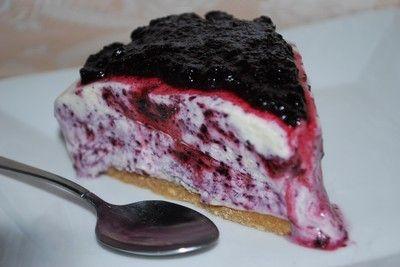 Frusen blåbär & citron cheesecake