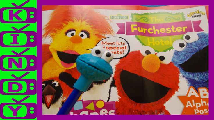 Elmo & Cookie Monster. Furchester Hotel magazine with FREE Cookie Monste...