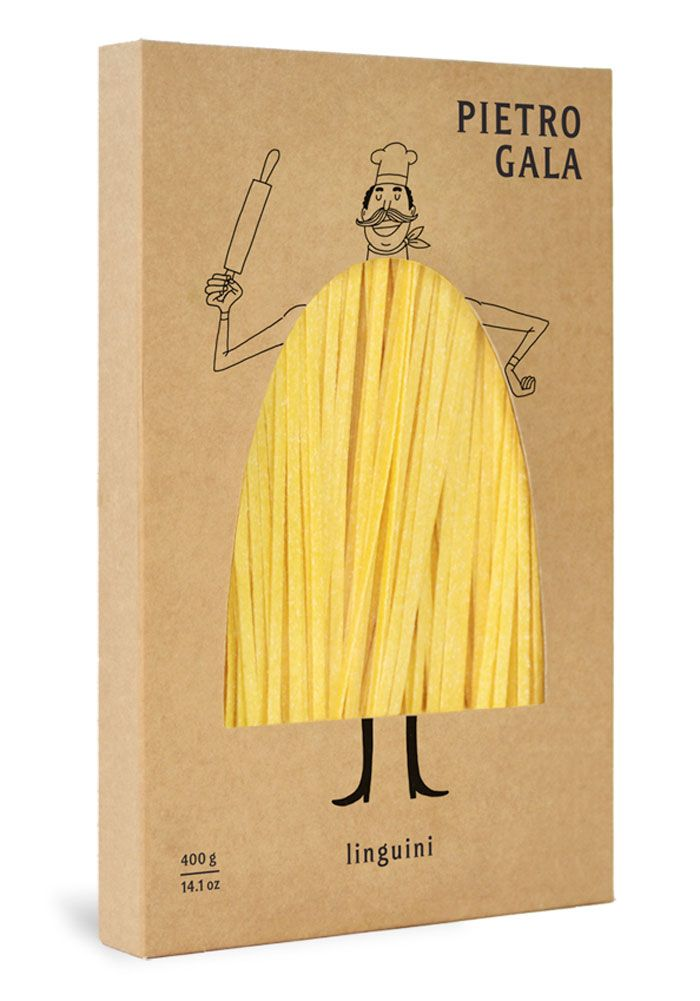 Pietro Gala This is just one of several great pasta packaging that has universal appeal. PD #packing #branding