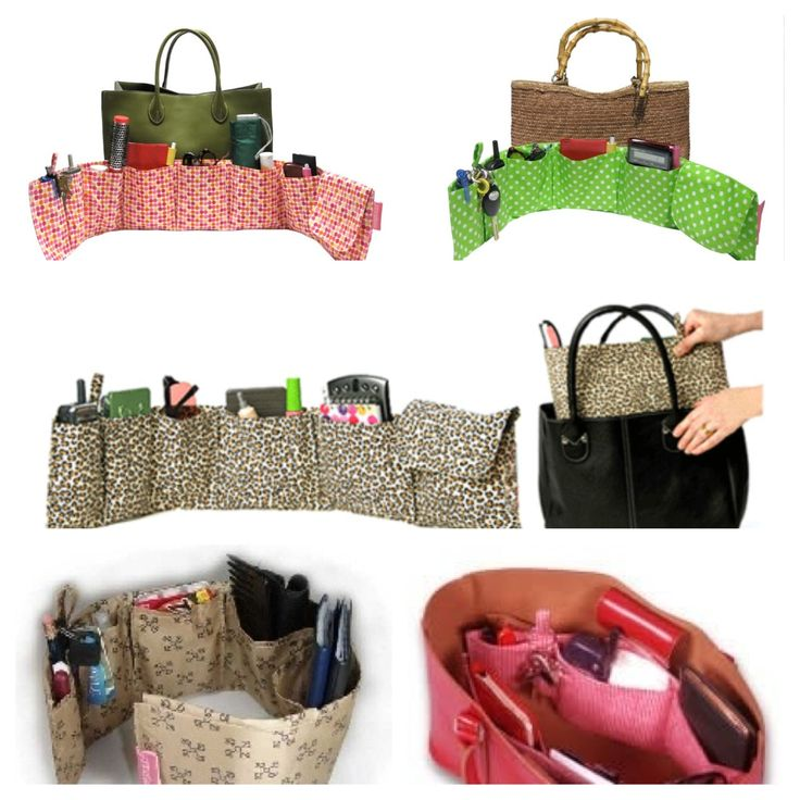Organise that big shapeless but lovely handbag This is like giving your bag an underwired bra with pockets :)