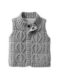 Baby cable knit sweater vest... would be so cute on a boy or girl