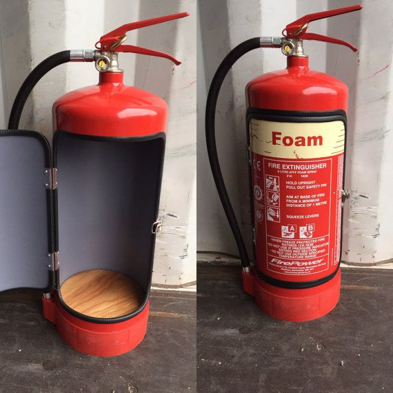 Man Cave Novelty Items : Novelty upcycled fire extinguisher mini bar recycle man
