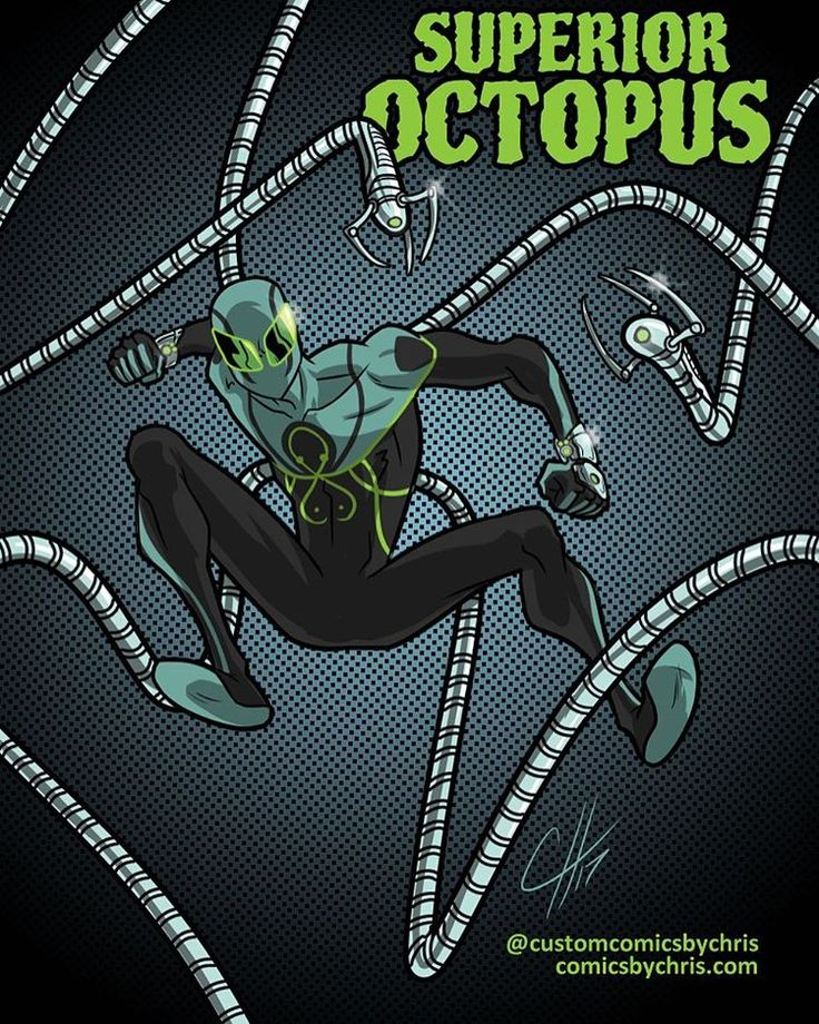 Custom Comic and Cartoon Creation! — Had to take an hour to draw The Superior Octopus!...