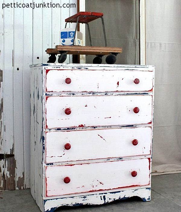 red white and blue chest by Petticoat Junktion
