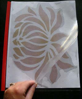 How to make your own stencils! Great idea.