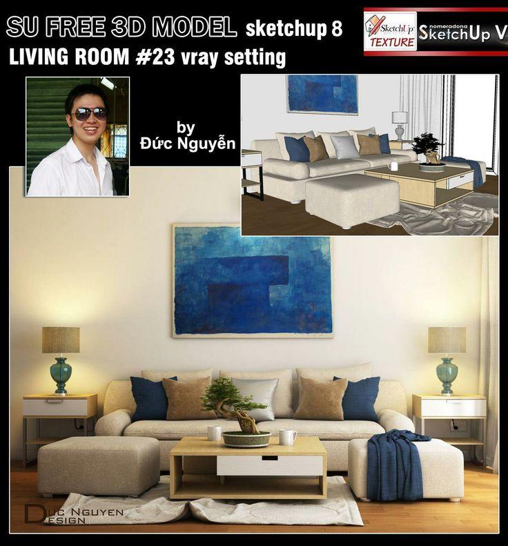 SKETCHUP TEXTURE: Free Sketchup 3d Model Moderne Living