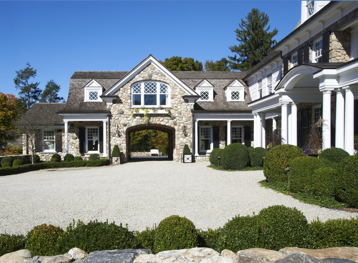 New canaan lynn morgan design love the windows drive for Drive through carport