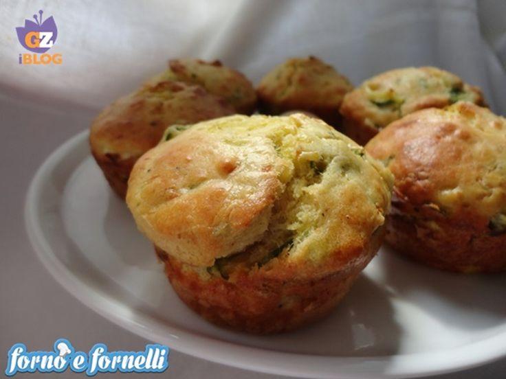 Muffins alle zucchine con cuore di philadelphia, ricetta salata