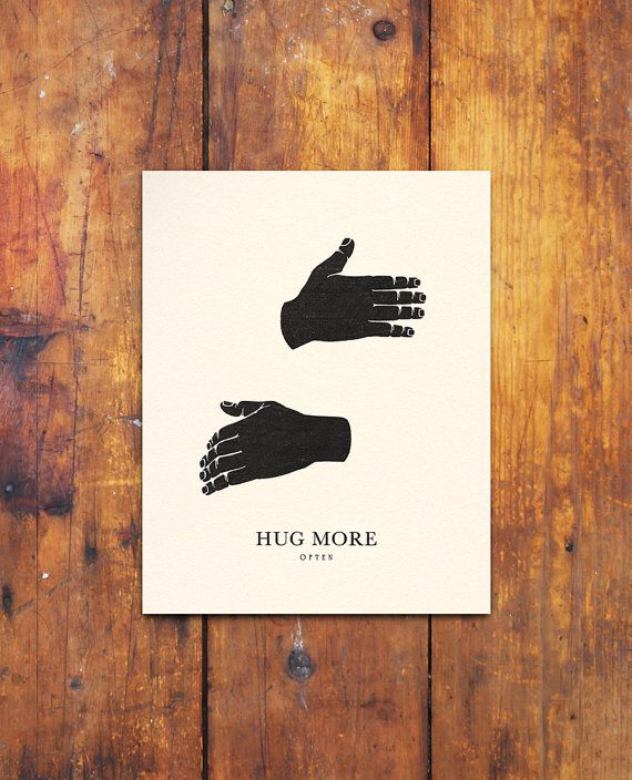 HUG MORE smaller by beauchamping on Etsy
