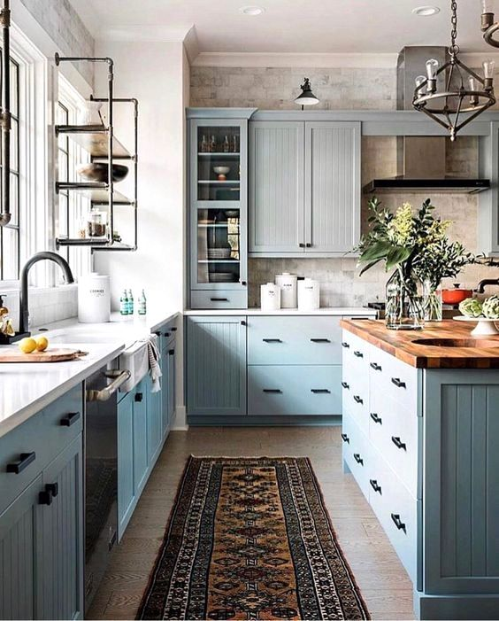 The Best 50 Blue Kitchens – That you Need to See