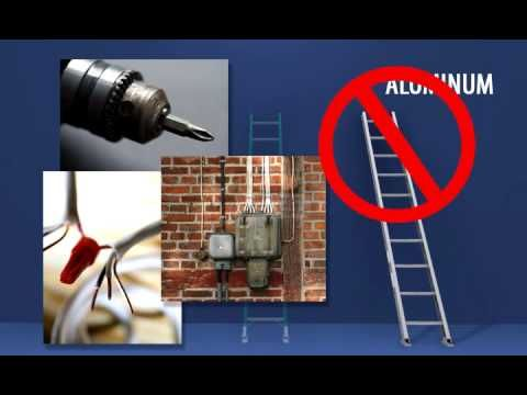Ladder Safety Rules: Also- always secure your ladder to the roof (normally via gutter hangers)  with strong!!! bungie cords or rope