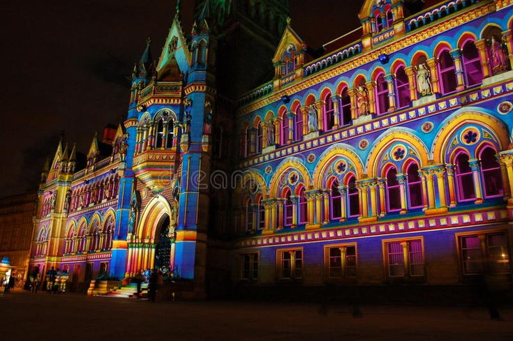 Download Bradford town hall stock photo. Image of spectacular - 46718332