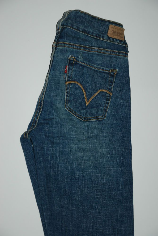 Based UK Levis 526 Slender Boot Cut Stretch Womens Jeans 4 M W 28 L 32 Blue Low