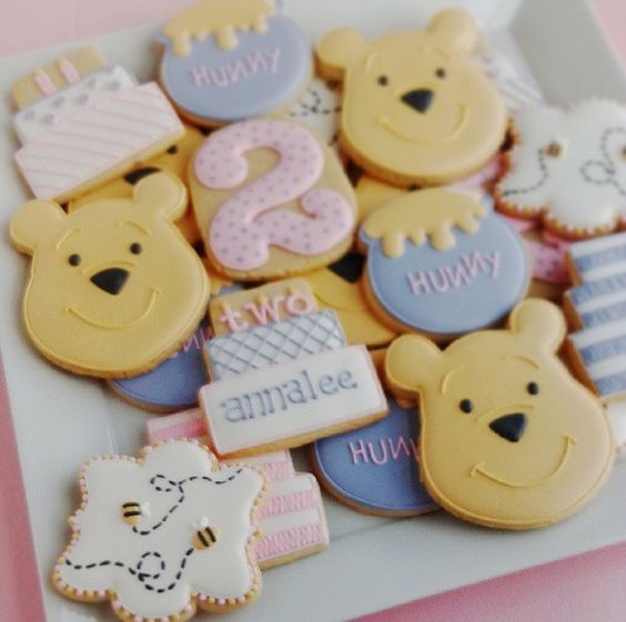 Winnie the Pooh birthday cookies...Great for my Mother's 92nd B-day. Winnie is her favorite.