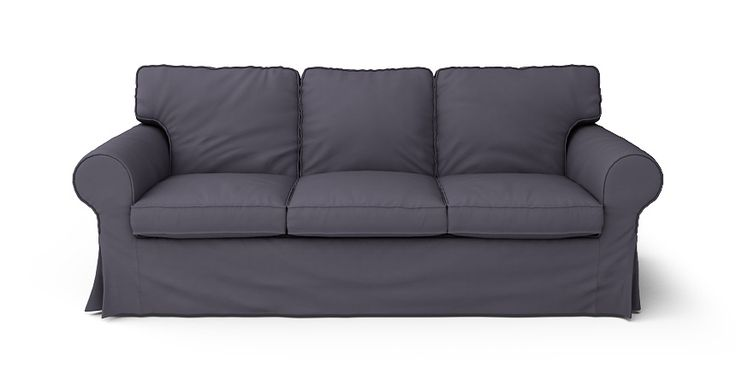 Boxed Seats Loose Fit Round Arm Sofa Slipcover - Beautiful Custom Slipcovers | Comfort Works