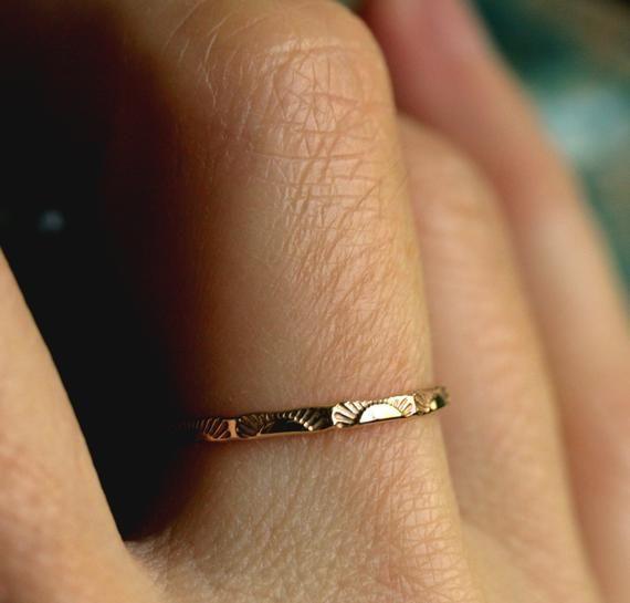 Sonnenaufgang Ring 14 Karat Gold Ring 10 Karat Gold Sterling Sun Ring Zierliche Gold Ring Sol Announcingweddingdate 2020 Moda Taki Taki Yuzukler Nisan Yuzugu